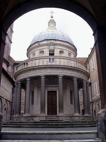 a review of the donato bromantes little chapel the tempietto Spanish patronage and petrine rome by victor deupi bramante's tempietto  tempietto at san pietro in montorio, by donato bramante, 1500.